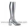 GOGO-300 Silver Faux Leather